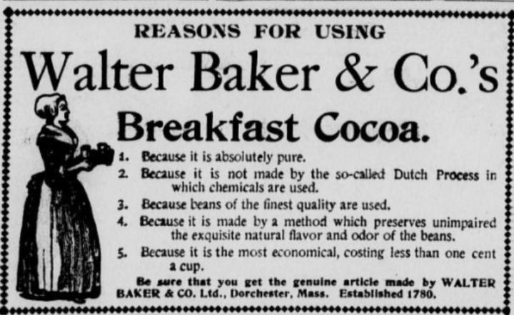 Walter Baker Breakfast Cocoa