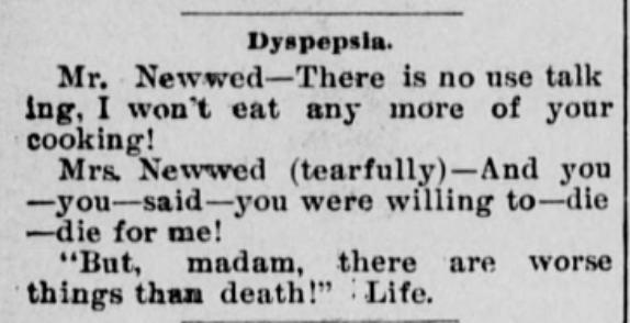 Newlywed Joke 1897