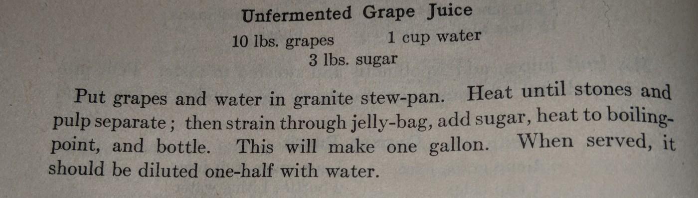 Unfermented Grape Juice Recipe 2