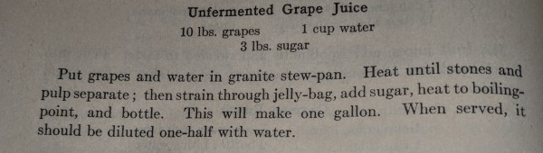 Unfermented Grape Juice Recipe 2