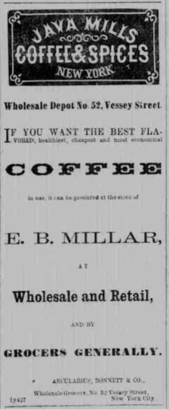 Java Mills Advertisement 1864