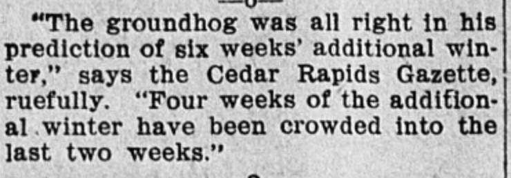 Groundhog Day 1905