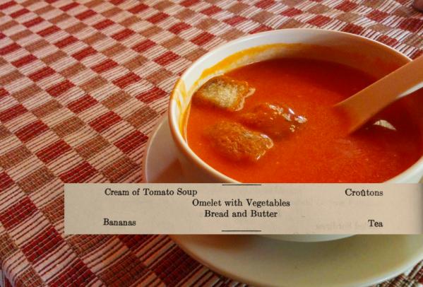 Perfect Tomato Soup Lunch Menu