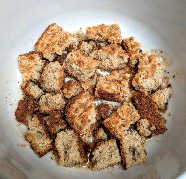 Breadcrumbs in pot
