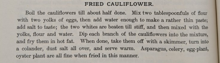 Fried Cauliflower Recipe 1887