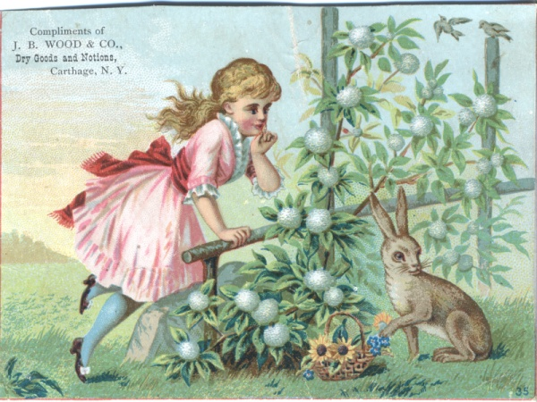 Easter Postcard Wood and Company Victorian