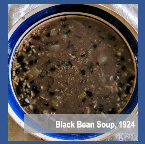 Black Bean Soup 1920s