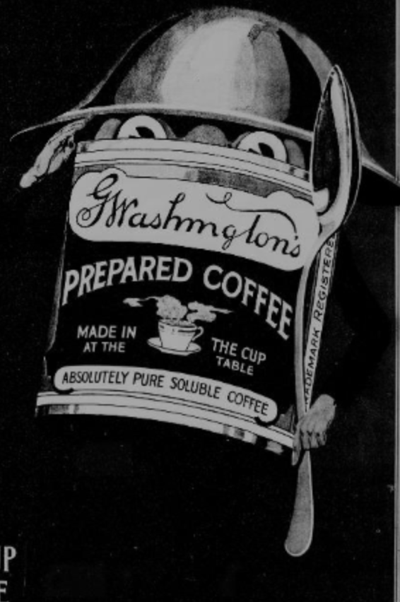 Washington's Coffee Advertisement