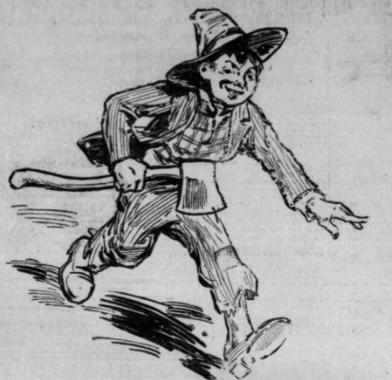 Boy with Ax Sketch 1911
