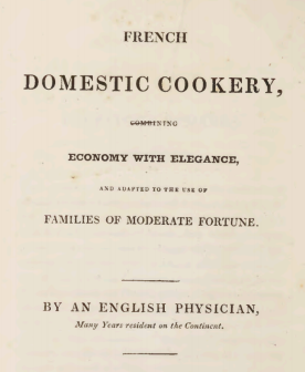French Domestic Cookery