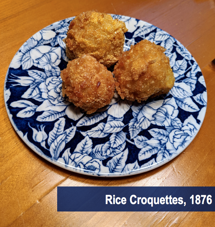 Rice Croquettes on Plate 1870s