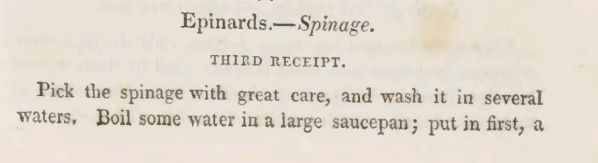 Preparing Spinach 1825