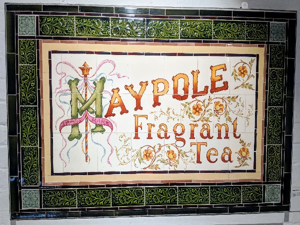 Maypole Tea tile advertisement