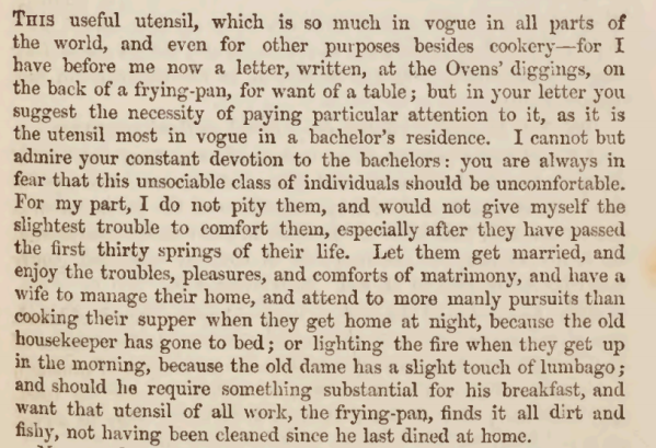 Description of Frying pan 1850s