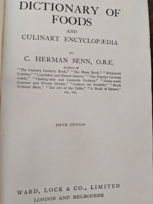 HermanSennDictionaryofFoods5thedition