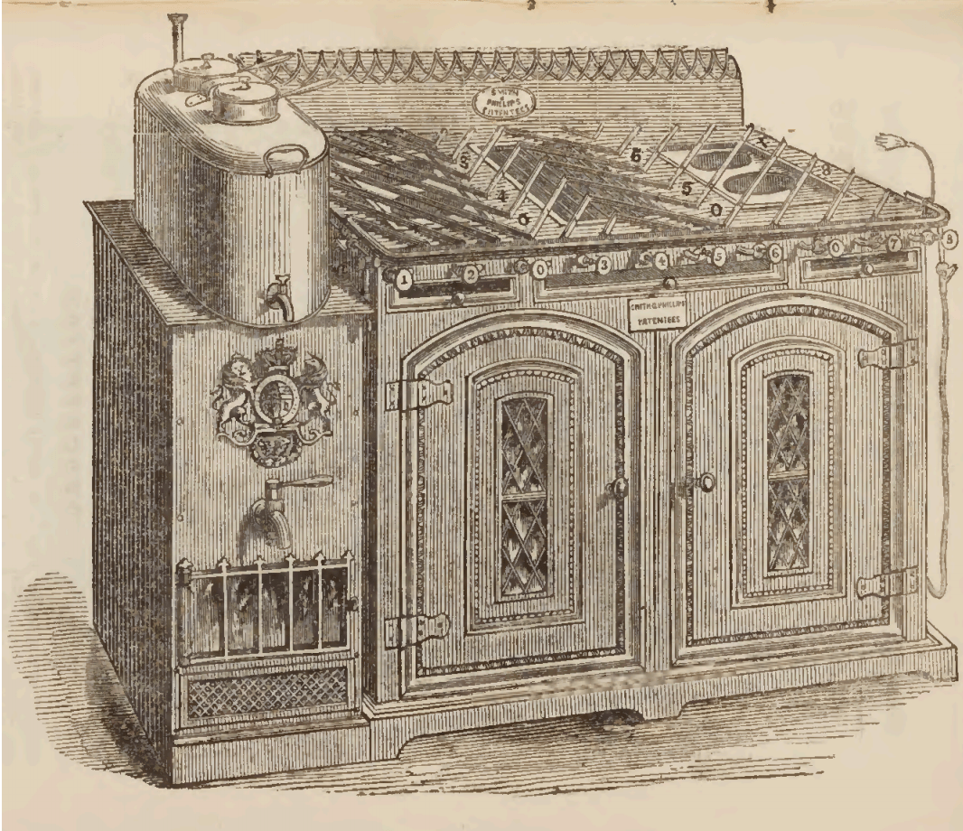 Victorian Kitchen Stove Drawing 1855