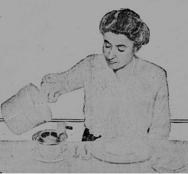 Woman Filtering Coffee 1920