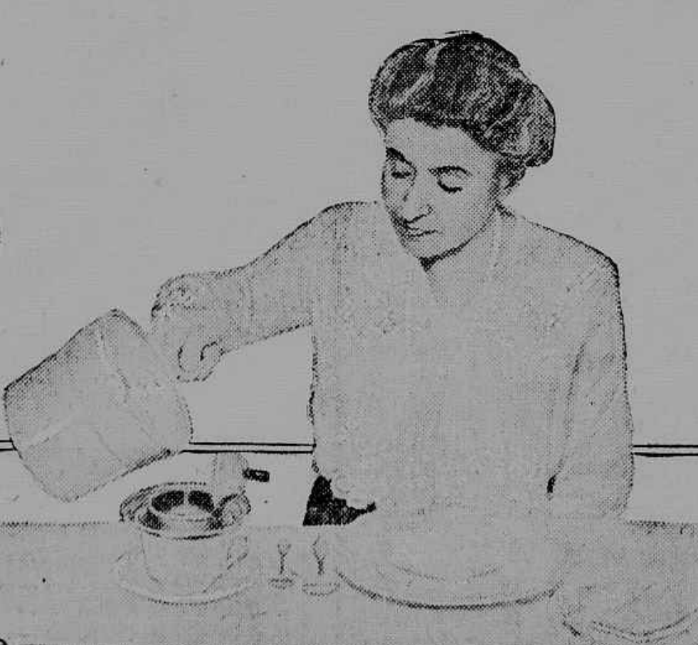 Woman Filtering Coffee 1920