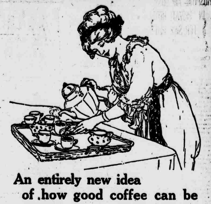 Woman pouring coffee 1914