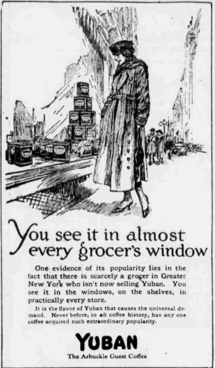 YubanAdvertisement_Woman_Trench_1918