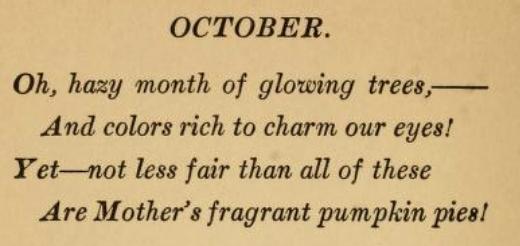 October Poem 1900s