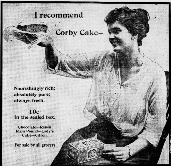 Corby Cake Advertisement