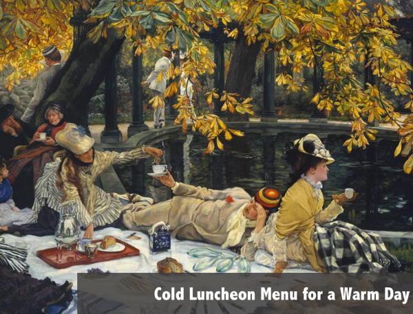 Luncheon Menu 1913