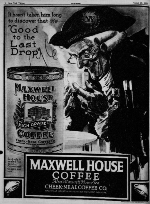 Maxwell House Advertisement 1919