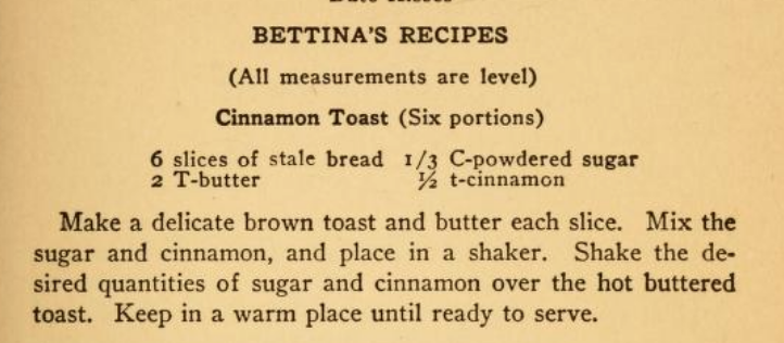 Bettina Cinnamon Toast