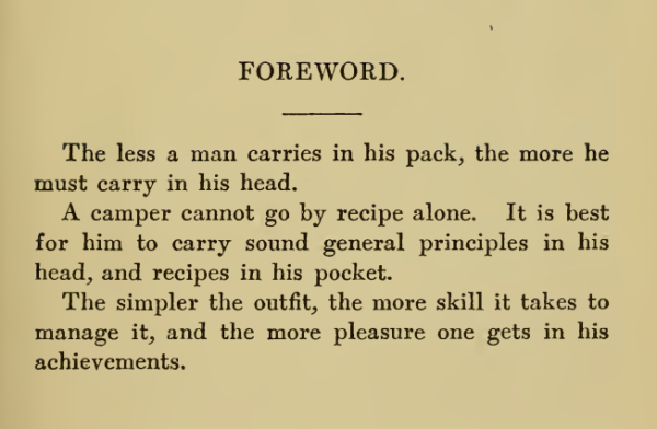 Camp Cookery Forward