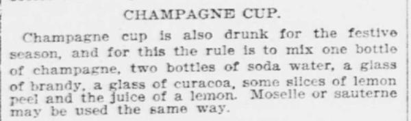 Champagne Cup Recipe