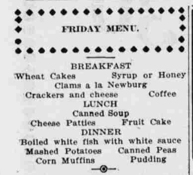 Friday Menu_1913