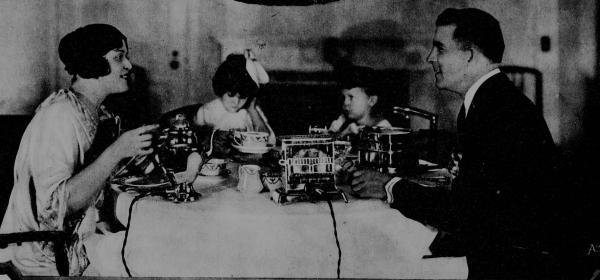 Family having breakfast 1920