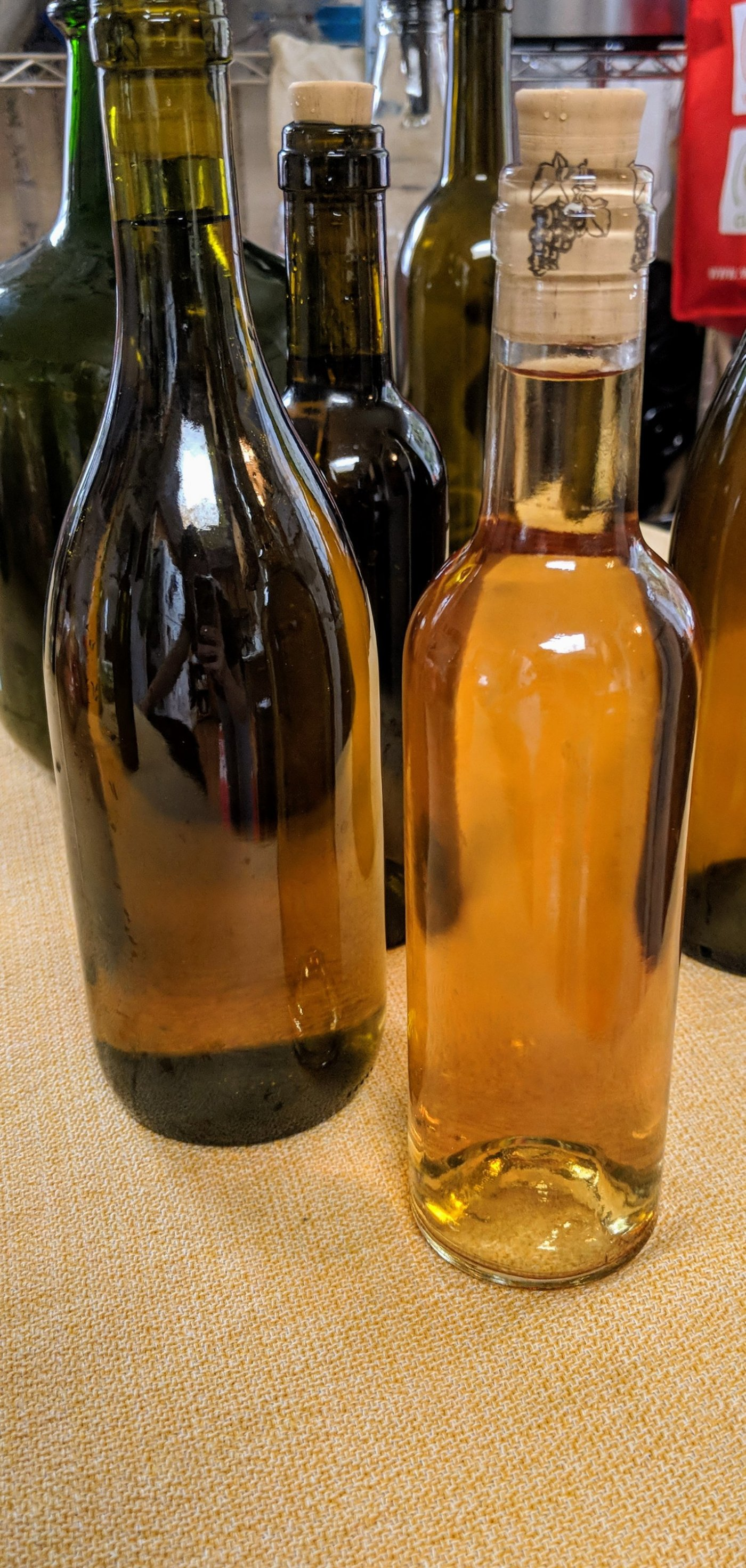 Bottled orange wine