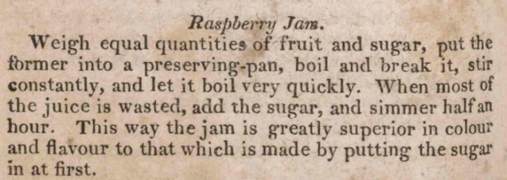 Raspberry Jam Recipe 1819
