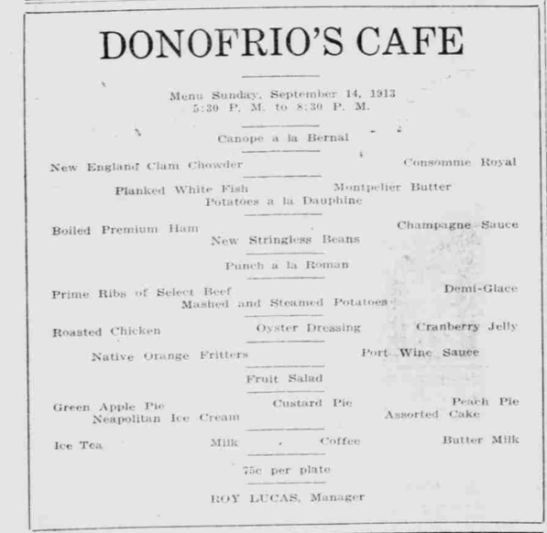 Donofrios_Cafe_Menu_1913