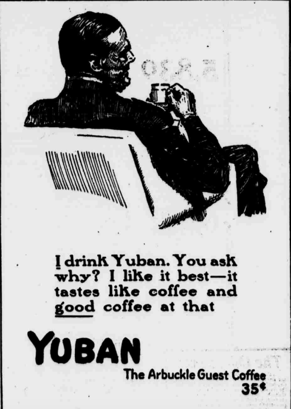 Yuban-1914-Best-Coffee-Man-Drinking