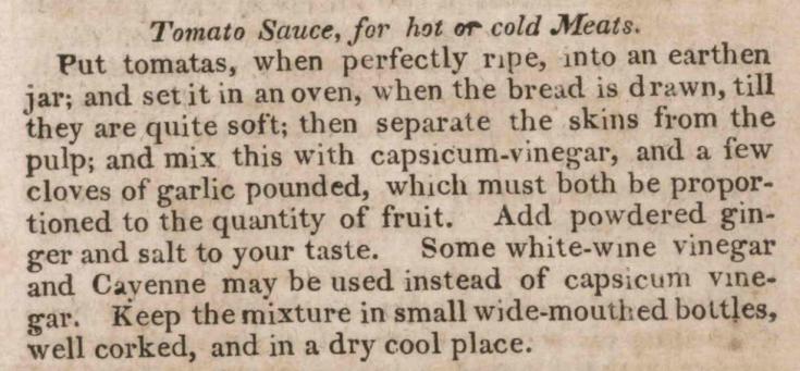 Tomato Sauce 1819