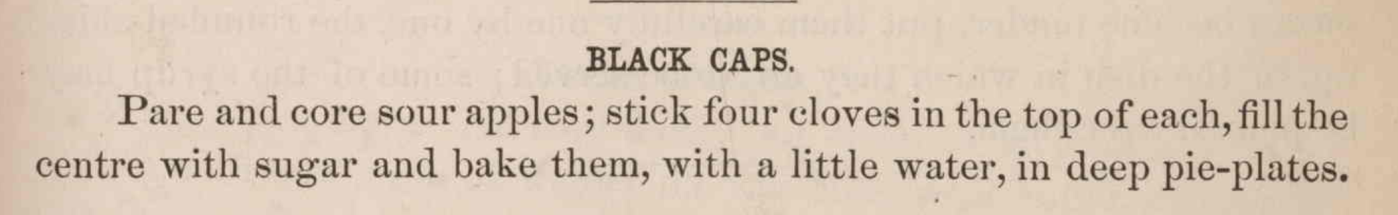 Black Caps_Recipe