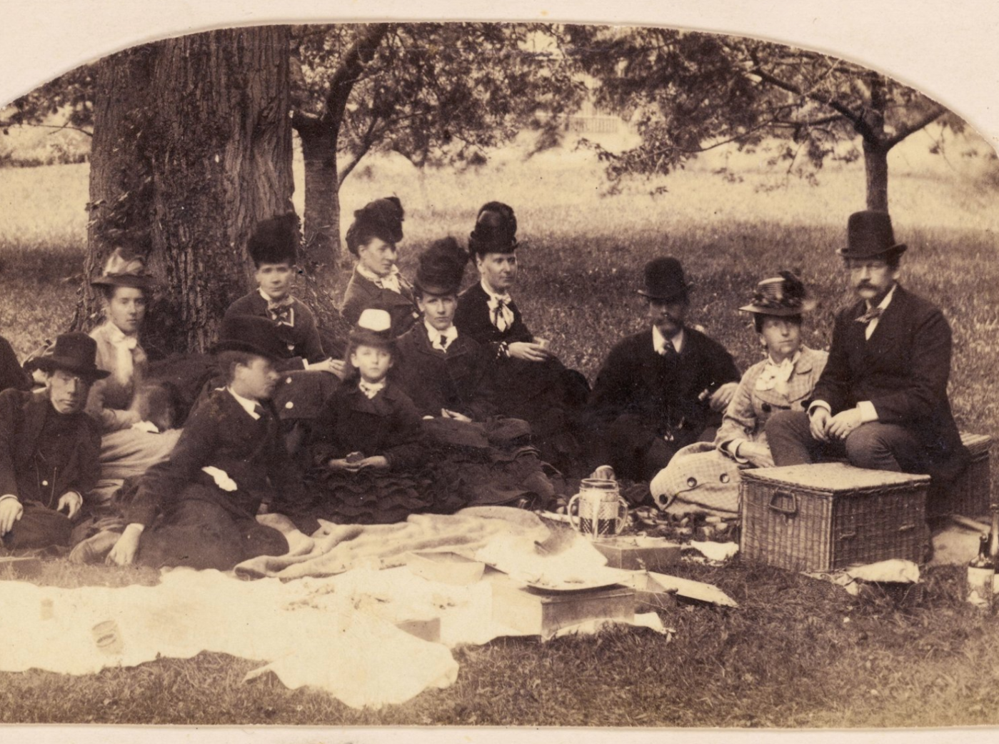 Photograph of picnic 1800s