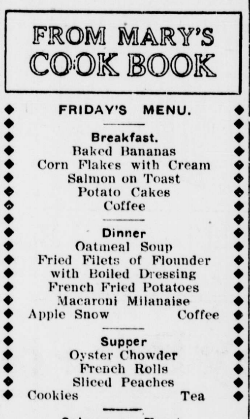 spokane press menu 1910