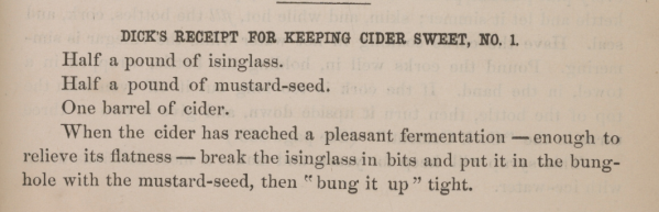 Keeping Cider Sweet 1870s
