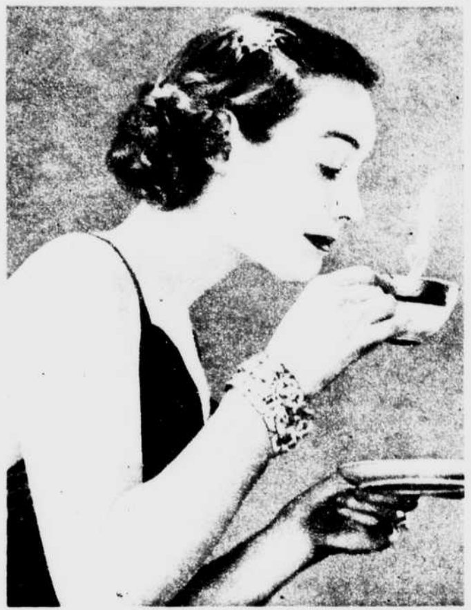 Woman drinking Coffee Photo 1930s