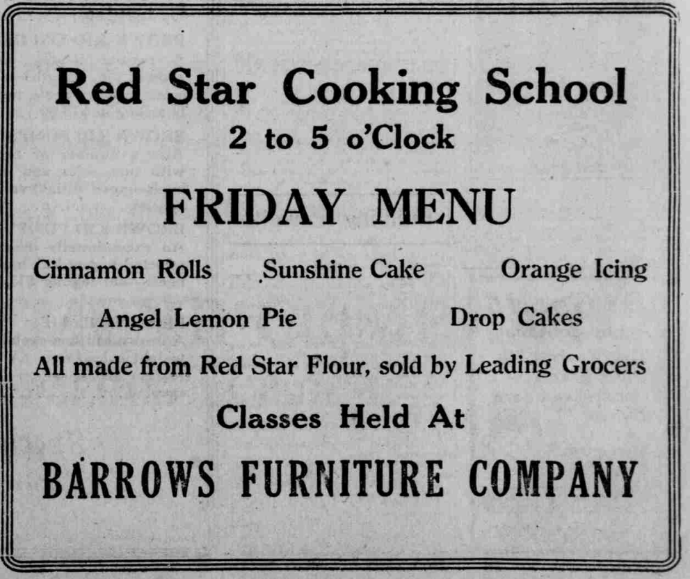 RedStarCookingSchool_FridayMenu 1920s