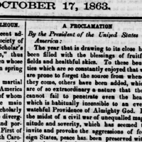 Thanksgiving Proclamation ~1863