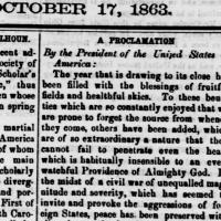 Thanksgiving Proclamation ~1863