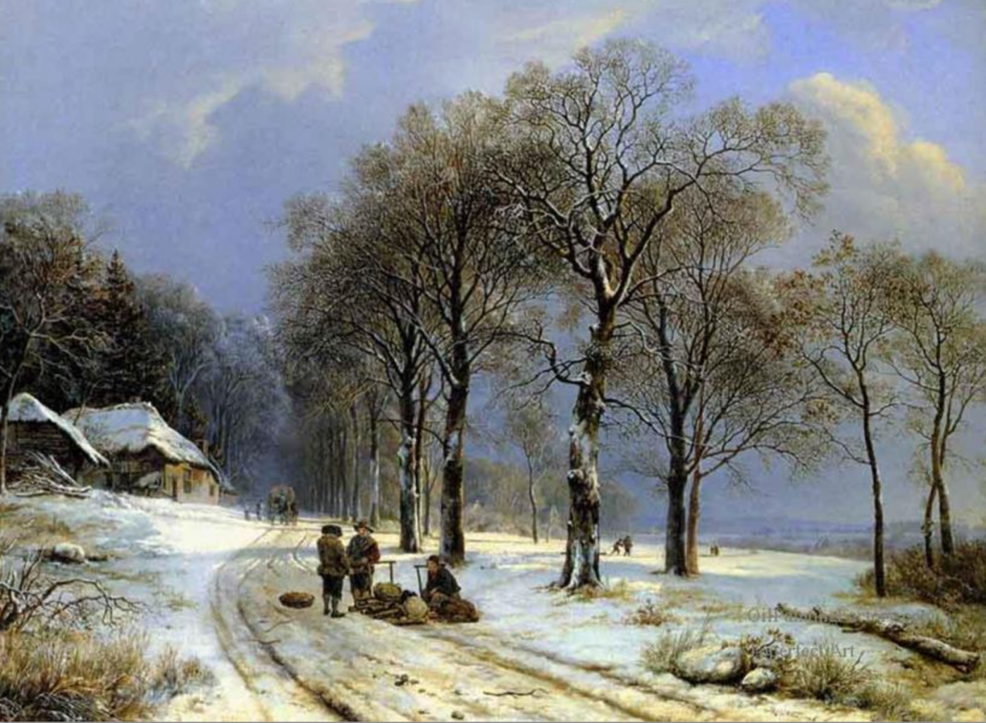 Winter_Oil_Painting_Barend_Cornelus_Hlland