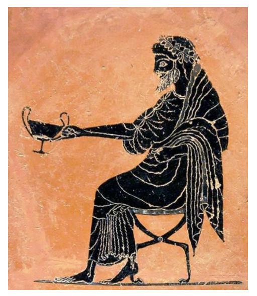 Dionysus Sitting with wine goblet