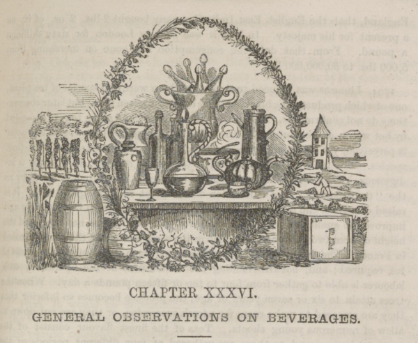 Mrs.Beeton Sketch of beverages