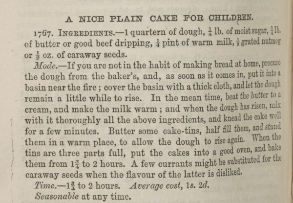 Plain Cake Children Recipe_Beeton